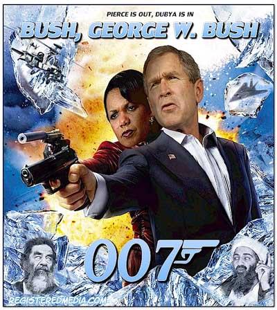 Bush as 007